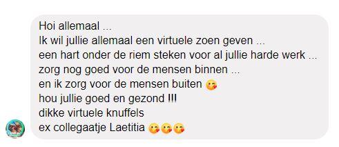 Bedankt Laetitia