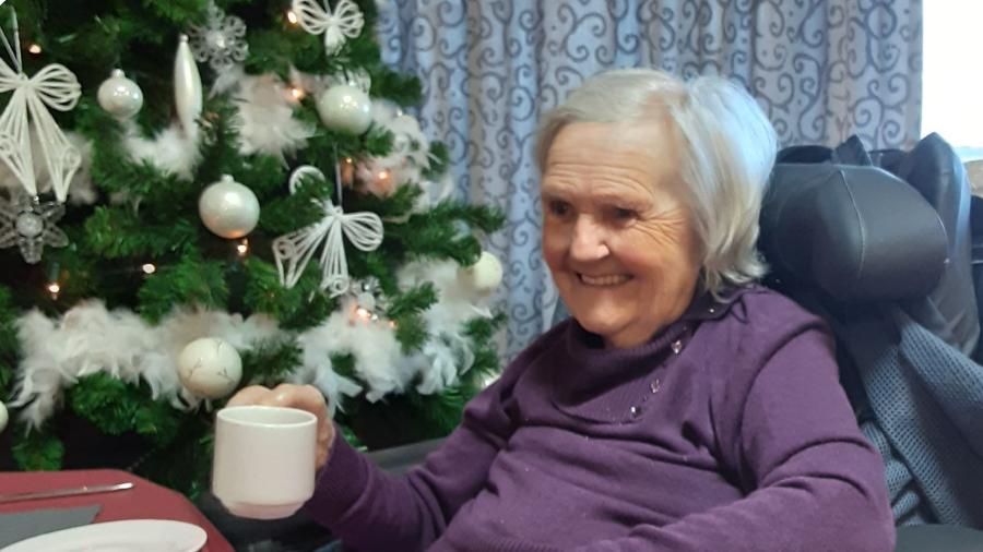 Koffie kerstboom